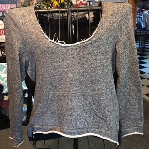 Vanity gray and black sweater